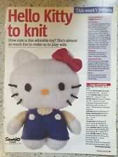HELLO KITTY DOLL KNITTING PATTERN  HEIGHT 18CM//7IN