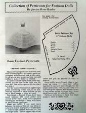 Collection Of Petticoat Patterns & Other Longerie For Fashion Dolls Rare