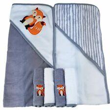 Baby Badetuch Fuchs 2er Pack und 4er Set Waschlappen