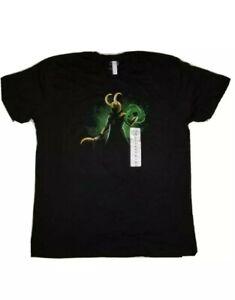 NWT tee turtle Marvel Comics LOKI Black t-shirt Mens Size XL The God of Mischief