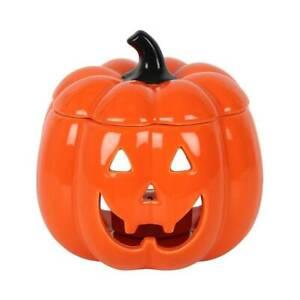 Jack O Lantern Wax Burner Oil Burner Tea Light Holder Ceramic Pumpkin Halloween