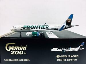 Gemini Jets 1:200 Frontier AIRBUS A320 N227FR G2FFT514