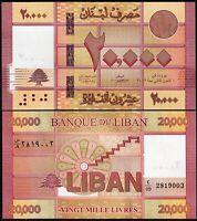 Lebanon 20000 Livres 2019, UNC, P-93c