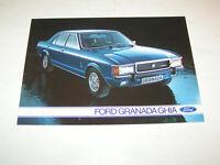 Prospekt / Broschüre Ford Granada Ghia Limousine - Stand 1975