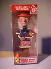 Firefighter Rescue Robby Louisiana Hot Sauce Promo Bobblehead in Box