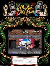 "TIN SIGN ""Double Dragon""  Video Games Art Deco Garage Wall Decor"