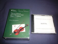 Teaching Co Great Courses DVDs :  HOW TO LISTEN to and UNDERSTAND GREAT MUSIC
