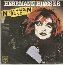 NINA HAGEN BAND Herrmann hiess er DUTCH SINGLE CBS 1980