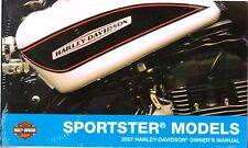 2007 Harley Sportster 883 1200 XL883 XL1200 Owner's Owners Owner Manual 99468-07