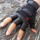 Anti-Rutsch Taktische Fahrrad Leder Halbfinger Einsatz Handschuhe Herren Gloves