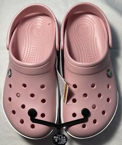 New Women's CROCS Crocband II Pink Shoes Clogs Size 10 FREE SHIPPING