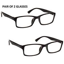 New Pair of Reading Glasses 2 Packs Mens Womens UV Reader RR92