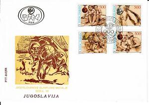 1988 Yugoslavia Summer Olympics Rowing Basketball Waterpolo Boxing #1949E-H