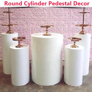 Round Cylinder Pedestal Art Decor for Wedding Display Cake Rack Plinths Pillars