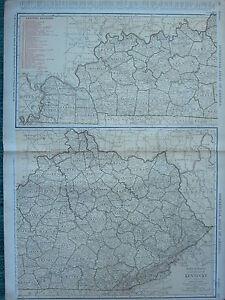 1922 Grand Amérique Carte ~ Kentucky Chemins de Fer JACKSON Boyle Owen ~ Mcnally
