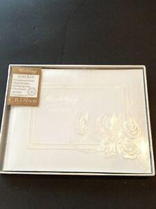 Vintage C. R. Gibson Wedding Guest Book New *Read Desc Doves