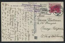 1931 Austria Postcard - Scott #334 - St. Anton am Arlberge to Orange, California