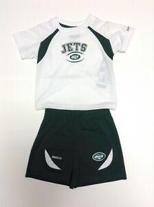 Infant Toddler Kids Boys Reebok 2 piece New Jets NY Jets Shirt & Shorts