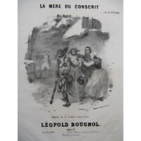 BOUGNOL Léopold La Mère du Conscrit Chant Piano ca1840 partition sheet music sco