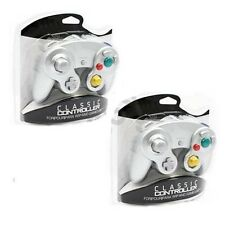 2 LOT NEW Silver Controller for Nintendo Gamecube System Console Wii Control Pad