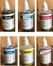 6 x (100 ML) OF ULTRA PREMIUM SUBLIMATION INK REFILL FOR EPSON K,C,Y,M,LC,LM