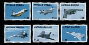 Antigua and Barbuda 1998 Modern Fighters short set MNH