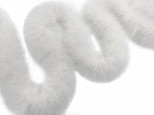 2 Yards - Snow White Turkey Medium Weight Marabou Feather Boa 25 Gram Costume