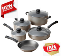 9 Piece Cookware Set Nonstick Pots & Pans Home Kitchen Cooking NEW,FREE SHIPPING