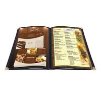 "20pcs Menu Cover 8.5x11"" 4 Page 8 View Restaurant Hotel Deli Cafe Fold PVC Book"