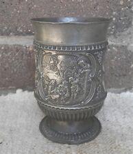 SKS Antique Vintage West Germany Pewter Goblet  Zinc Zinn Cup