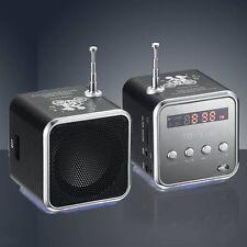 Micro SD TF USB Mini Stereo Speaker Music Player Antenna FM Radio PC MP3 /4 S6