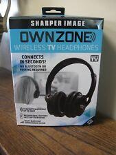 New! OWNZONE by Sharper Image Wireless TV Headphones