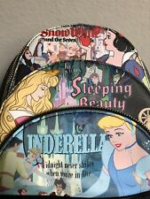 Disney Loungefly Princess Snow White Sleeping Beauty Cinderella Backpack Bag