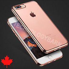 For iPhone 7 & iPhone 8 - Premium Luxury Electroplate SOFT Clear TPU Case Cover