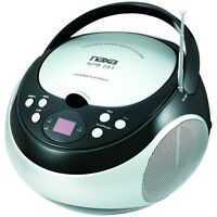 Naxa Portable CD Player with AM/FM Stereo Radio and 3.5mm Aux Input | NPB-251