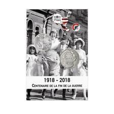 FRANCE 10 Euros Argent Blister Centenaire de l'Armistice 2018 + Médaille Poppy