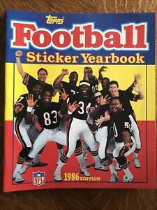 1986 Topps NFL Sticker Book Chicago Bears Payton/McMahon/Perry/Dent Super Bowl