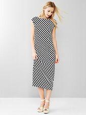 NWT Gap 2015 Stripe Muscle Midi Dress, NAVY/BLACK STRIPE SZ S