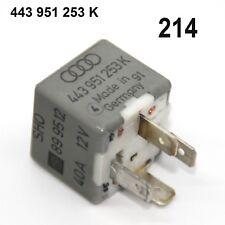 Orig. Audi a4 80 Vw Passat 3b RELAIS Nº 214 443951253 K 12 V 40 a Ventilateur Relais