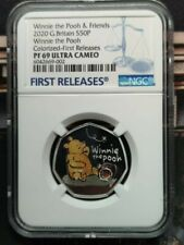 UK 2020 Great Britain Winnie the pooh Silver Proof coin NGC  PF69 ULTRA CAMEO