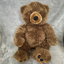 "Build A Bear 18"" Teddy Brown Shaggy Plush Stuffed Animal Black Paws"