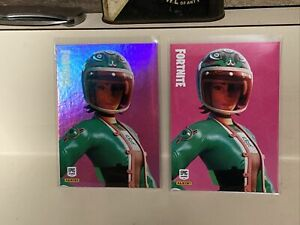 Panini Fortnite Series 2 Jade Racer Holo SP And Base