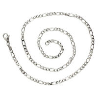 Schmuck Halskette, Edelstahl, Figarokette, Halskette, Silber - Breite 3mm - L OE