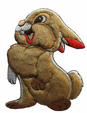 """#3902 4-1/4"""" Embroidery Iron On Cartoon Rabbit Applique Patch"""