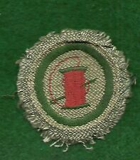 VINTAGE GIRL SCOUT BADGE - GREY GREEN -  NEEDLEWOMAN