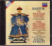 Antal Dorati: Bartok the Miraculous Mandarin Music Strings Percussion Celesta CD
