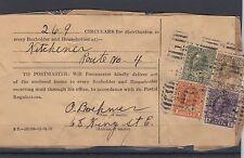 HOUSEHOLDER receipt ADMIRAL $1.00 +20c+10c+5c nice  dated 1927 Circular Canada