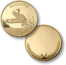 Mallard / Anas Platyrhynchos - Engravable MerlinGold Coin