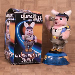 "VINTAGE DURACELL ULTRA GLOBETROTTER BUNNY 16"" ORIGINAL BOX + *BATTERIES*"