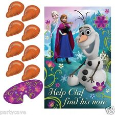 DISNEY FROZEN PIN THE NOSE ON OLAF PARTY GAME LIKE PIN THE TAIL DONKEY BANNER